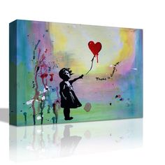 "Mobile phone Lovers Banksy Street Art Canvas Print Poster #2 8/"" X 10/"""