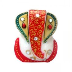 Have Lord Ganesha bless you each day courtesy this stone added marble Shree Ganesha in multi color. This is made of marble and can be a lovely gift for birthdays.