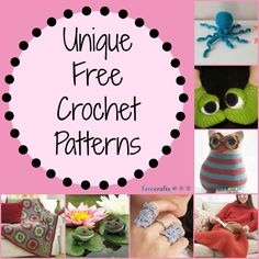 17 Unique Crochet Patterns--Fun and whimsical crochet tutorials that crochet fans of all skill levels will love!