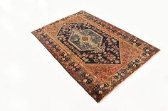 Navy Blue 4' 2 x 6' 1 Gholtogh Persian Rug | Persian Rugs | iRugs UK