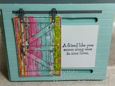 Image result for stampin up barn door