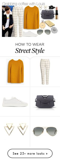 """Grabbing coffee with Louis"" by phenomeniall-style on Polyvore featuring MANGO, H&M, rag & bone, Bobbi Brown Cosmetics, Chanel, Goldgenie, Ray-Ban, Home Decorators Collection, Urbanears and louistomlinson"