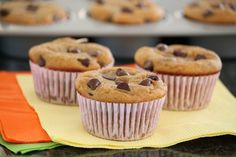 Chocolate Chip Pumpkin Muffins -- grain- and gluten-free with basic pantry ingredients...taste so good!