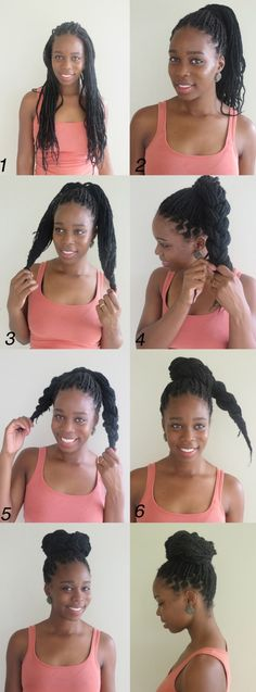 Braided Bun From Box Braids Tutorial