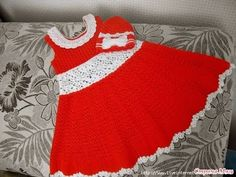Crochet baby dress| How to crochet an easy shell stitch baby / girl's dr...