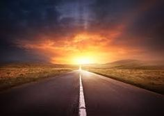 Image result for sunset on the road