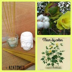 Encens parfum fleur de coton en bâton aux Huiles essentielles naturelles - pochette de 10 bâtons de la boutique A2ATOMES sur Etsy