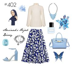 """""""#402 Blue Mind"""" by aminahs-hijab-diary ❤ liked on Polyvore featuring Nly Shoes, John Lewis, Eos and Marc Jacobs"""