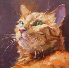 Daily Paintworks - - Original Fine Art for Sale - © Katya Minkina Cat Drawing, Painting & Drawing, Animal Paintings, Animal Drawings, Illustrations, Illustration Art, Gato Animal, Orange Tabby Cats, Watercolor Cat