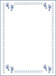 Printable boy footprint baby shower invitation template.