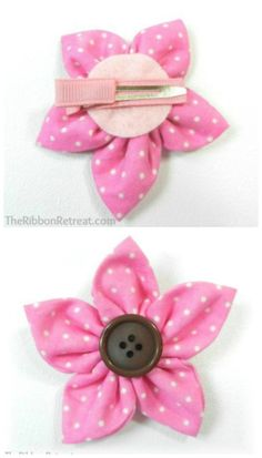 30 Fabulous and Easy to Make DIY Hair Bows; the button could be used to help attach to hair clip. I'd use the kind that snaps shut.