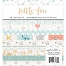 "Crate Paper Little You Boy 6""x6"" Paper Pad 36 Sheets 680384"