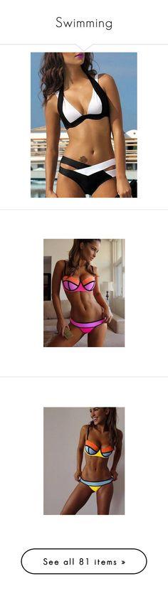 """""""Swimming"""" by imblissedoff ❤ liked on Polyvore featuring swimwear, bikinis, sexy bikini, push up triangle bikini, colorblock bikini, sexy swimwear, triangle swimwear, underwire bikini, block bikini and underwire bra"""