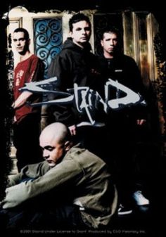 Staind Vinyl Sticker Group Photo Logo