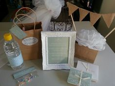 Hens party survival kits, centerpieces, wedding day wishes for the bride on her wedding day
