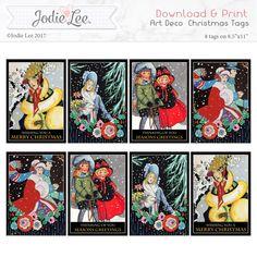 Snap Click Supply Co. - Printable Christmas Tags - Art Deco, $2.99 (http://www.snapclicksupply.com/printable-christmas-tags-art-deco/)