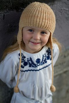 Ruby Hat - pattern by Lisa Craig Knitted Hats, Crochet Hats, Aviator Hat, Hooded Vest, Ear Hats, Vest Pattern, One Year Old, My Little Girl, Little People