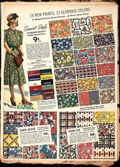 Fabrics 1930's on Pinterest | 39 Pins