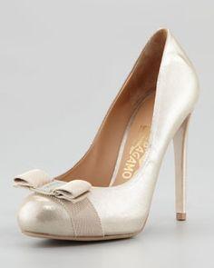 Ferragamo Women s Shoes at Neiman Marcus. Metallic PumpsDesigner HeelsDesigner  WearFashion ... 8da349599bf3