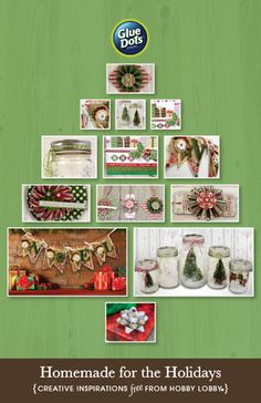 HobbyLobby Projects - Homemade for the Holidays Hobby Lobby Crafts, Glue Dots, Craft Projects, Photo Wall, Paper Crafts, Homemade, Holidays, Holiday Decor, Creative