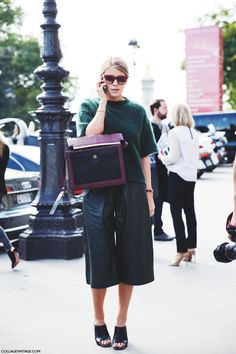 Paris_Fashion_Week_Spring_Summer_15-PFW-Street_Style-Cullottes-Green_Outfit-