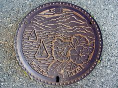 Shiga town Shiga pref, manhole cover (滋賀県志賀町のマンホール) | Flickr - Photo Sharing!