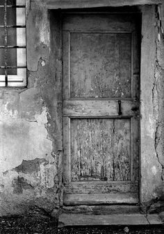 Wooden Door And Entrance Showing Wear In Backstreet Of by FotoFitz, $20.00