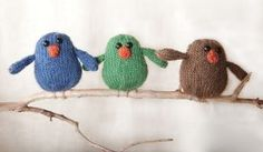 Chubby Chirps Pattern - Free Knitting Patterns by Rebecca Danger