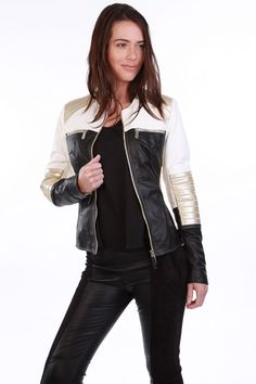 ROMANE Leather Jacket- Available on www.cuirparis.fr