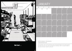 2015 wall calendar.   Advice to Sink in Slowly