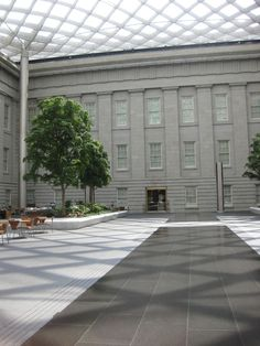 The strikingly contemporary Kogod Courtyard was designed by the architectural…