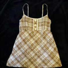Adorable Brown Plaid Country Tank Adorable Brown Plaid Country Tank Mine Tops Tank Tops