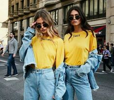Bff Pics, Cute Friend Pictures, 90s Fashion, Denim Fashion, Girl Fashion, Blonde Fashion, Friends Fashion, Fashion Pics, Fashion Clothes