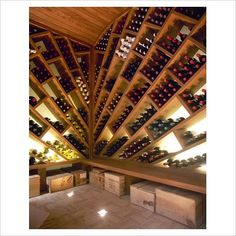A wine rack the size of a whole room