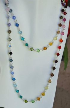 Long Crystal Necklace. Craft ideas 4110 - LC.Pandahall.com