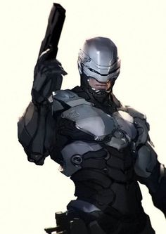 Robocop by Gerald Parel - Anime Characters Epic fails and comic Marvel Univerce Characters image ideas tips Character Concept, Character Art, Concept Art, Comic Books Art, Comic Art, Logo Super Heros, D Mark, Arte Cyberpunk, Arte Robot
