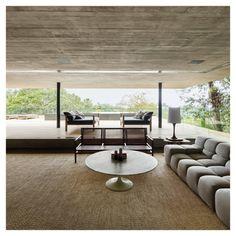 Marcio Kogan (Studio MK27) - Jungle House Brazil, 2016 living room, concrete