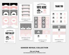 Gender Reveal Set by finedandyprintables on Etsy, $25.00 #printables #fineanddandypaperie