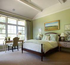 Des Idées Pour Décorer Une Chambre En Vert Menthe. Green Bedroom DesignWhite  ...
