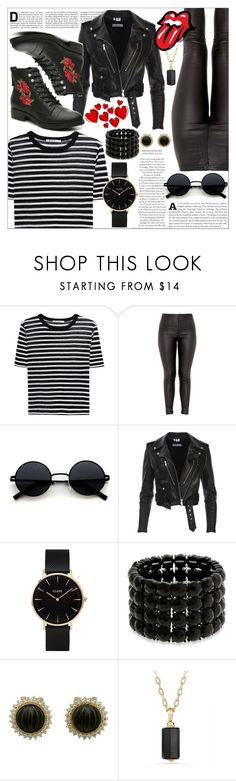 """Red is the new black"" by vxctxrx ❤ liked on Polyvore featuring T By Alexander Wang, CLUSE, Erica Lyons, David Yurman and Madden Girl"