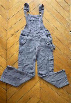 French vintage linen coveralls. Vtg French linen jumpsuit from vintagestar-paris