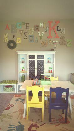 Playroom alphabet wall