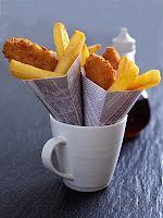 hmm fish 'n chips in news paper