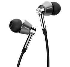 Triple Driver In-Ear Earphones Hi-Res Headphones with High Resolution, Bass Driven Sound, MEMS Mic, In-Line Remote, High Fidelity for iPhone/Android/PC/Tablet - Silver ** Continue to the product at the image link. (This is an affiliate link) Best In Ear Headphones, Android Pc, Ipod, Headset, Apple Iphone, Remote, Smartphone, Bass, Amazon