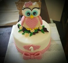 Cuki baglyos torta 1.szülinapra #1stbirthdaycake#cuteowl#madebyKata#Iloveit