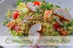 Couscous salade met gerookte kip | Kooktijdschrift.nl