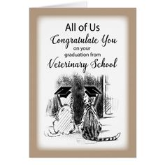 Congratulations from Group on Veterinary School Graduation Card