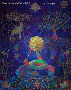 Deer Totem digital - 2015, Digitally mastered version of acrylic painting 'Deer totem - 2014' #deer, #totem, #drumming, #drummingman, #nahko, #shamandrum, #deertotem, #shaman, #karmym, #painting, #psychedelicart, #visionaryart, #shriyantra, #floweroflife, #dreaming, #Shaman, #shamanart, #drummingart, #psyart, #consciousness, #shamanism, #artvisions, #visions, #deertotem, #metaphysicalart, #psychedelia, #soulwhisper, #mysticalart, #mystical