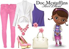 """Reel2Real: Doc Mcstuffins"" by aisha-grace-tenorio-cuartela on Polyvore"