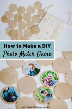 to Make a DIY Photo Memory Match Game Kids love to play Match! Make your own DIY Photo Match Game. It makes the perfect kid and toddler activity.Kids love to play Match! Make your own DIY Photo Match Game. It makes the perfect kid and toddler activity. Cool Gifts For Kids, Kids Gifts, Diy For Kids, Crafts For Kids, Diy Kid Gifts, Diy Toys For Toddlers, Daycare Crafts, Diy Crafts, Matching Games For Toddlers